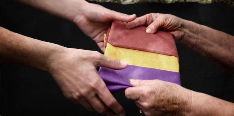 manos bandera
